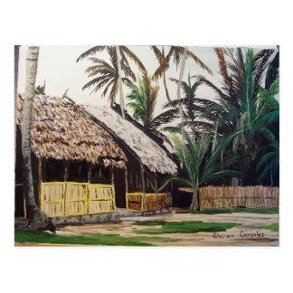 San Blas Islands, Panama WaterColor Postcard