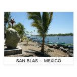San Blas River in Mexico Postcard