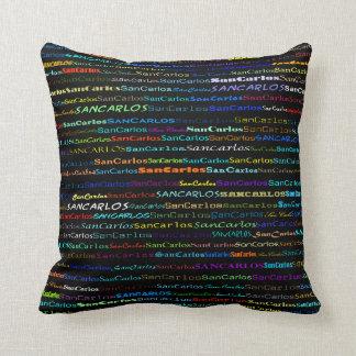 San Carlos Text Design I Throw Pillow