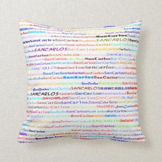 San Carlos Text Design II Throw Pillow