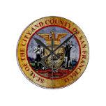 San Cisco de fra Vintage Seal Relojes De Pared