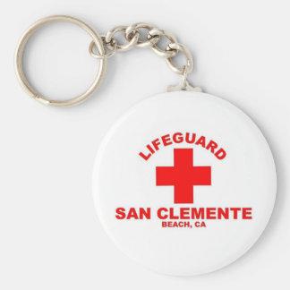 San Clemente Beach Basic Round Button Keychain