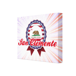 San Clemente CA Stretched Canvas Prints