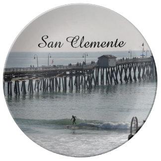 San Clemente California Porcelain Plate