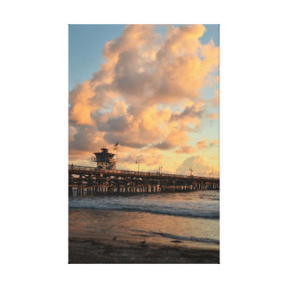San Clemente California Pier Canvas Prints