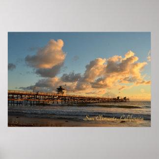 San Clemente California Pier Posters