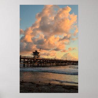San Clemente California Pier Poster