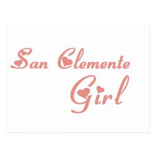 San Clemente Girl tee shirts Postcard