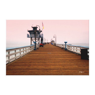 San Clemente Pier at Sunrise Gallery Wrapped Canvas