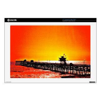 San Clemente Pier, California Laptop Skin