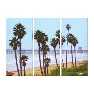 San Clemente Pier Canvas Stretched Canvas Prints