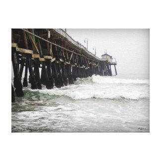 San Clemente Pier Stretched Canvas Print