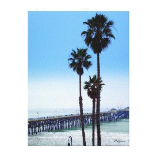 San Clemente Pier Canvas Stretched Canvas Print