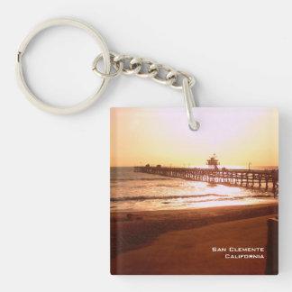 San Clemente Pier Keychain