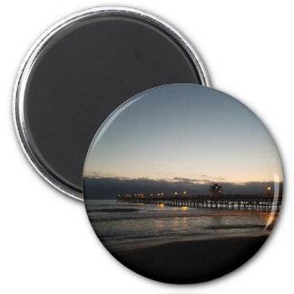 san clemente pier night time ocean california magnet