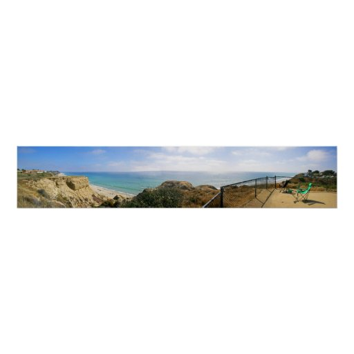 San Clemente, playa de estado de CA panorámica Póster