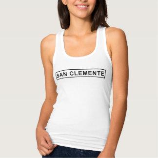 San Clemente Sign Women's Slim Fit Tank