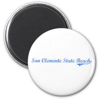San Clemente State Beach California Classic Design 2 Inch Round Magnet