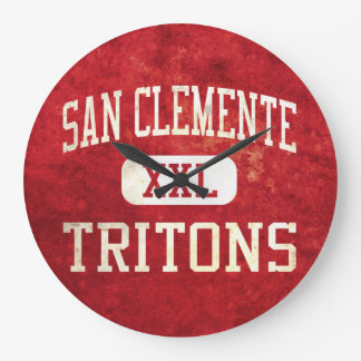 San Clemente Tritons Athletics Large Clock