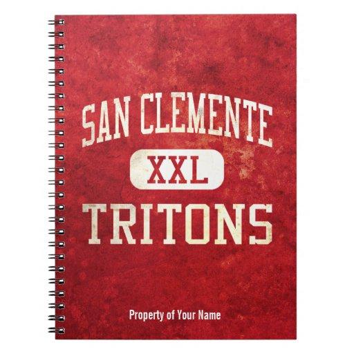 San Clemente Tritons Athletics Spiral Notebook