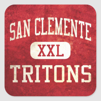 San Clemente Tritons Athletics Square Sticker