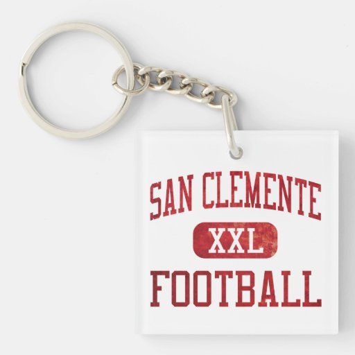 San Clemente Tritons Football Double-Sided Square Acrylic Keychain
