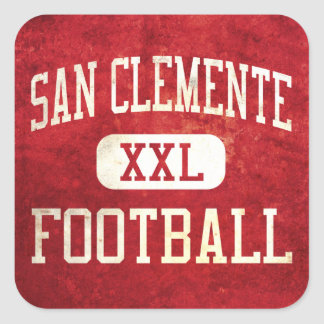 San Clemente Tritons Football Square Stickers