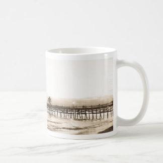 San Clemete pier California beach vintage photo Coffee Mug