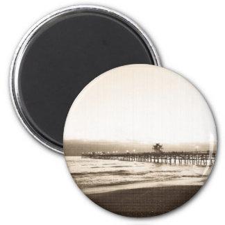 San Clemete pier California beach vintage photo Magnet