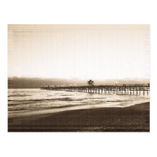 San Clemete pier California beach vintage photo Postcard