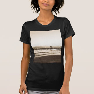 San Clemete pier California beach vintage photo T-Shirt