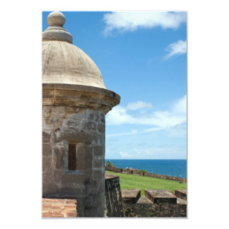 San Cristobal Fort Tower 3.5x5 Paper Invitation Card