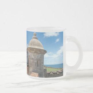 San Cristobal Fort Tower Frosted Glass Coffee Mug