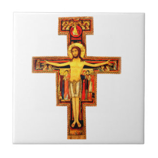 San Damiano Crucifix Cross Ceramic Tile