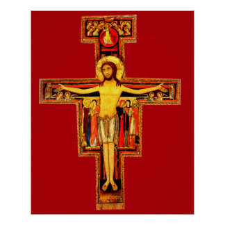 San Damiano Red Crucifix Poster Extra Large