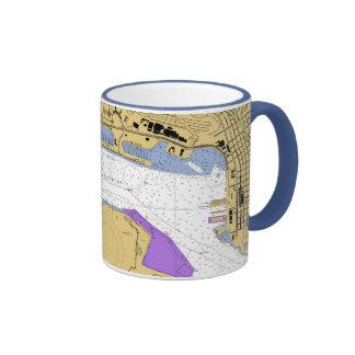 San Diago CA Nautical Harbor Chart Mug