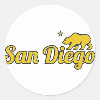 San Diego adaptable Pegatina Redonda