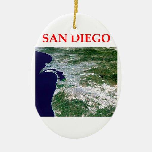 San Diego Adorno Navideño Ovalado De Cerámica