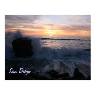 San Diego agita en la puesta del sol Postal