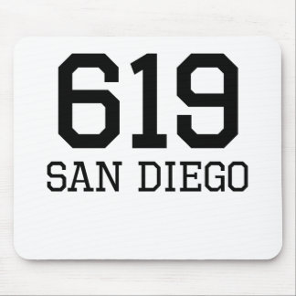 San Diego Area Code 619 Mousepad