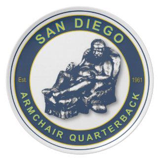 San Diego Armchair Quarterback Plate