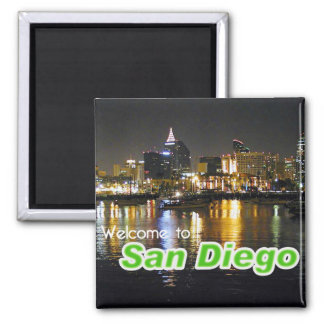 San Diego at Night Fridge Magnets