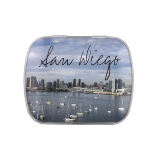 San Diego Bay and Skyline Jelly Belly Tin