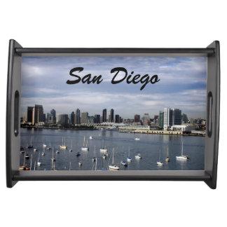 San Diego Bay and Skyline Service Trays