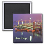 San Diego Bay Pier 2 Inch Square Magnet
