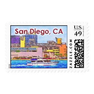 San Diego Bay Postage