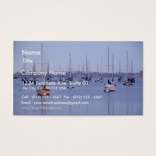 San Diego Bay Sailboats Business Card