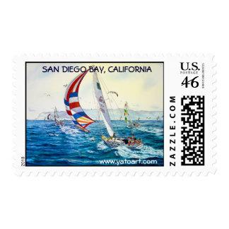 SAN DIEGO BAY San Diego California Postage Stamp
