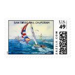 SAN DIEGO BAY,San Diego, California Postage Stamp