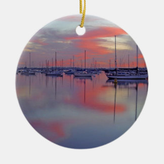 San Diego Bay Seen From The Airport Ceramic Ornament